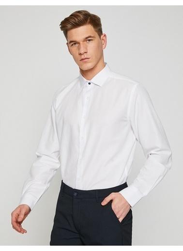 Koton Klasik Uzun Kollu Gömlek Beyaz